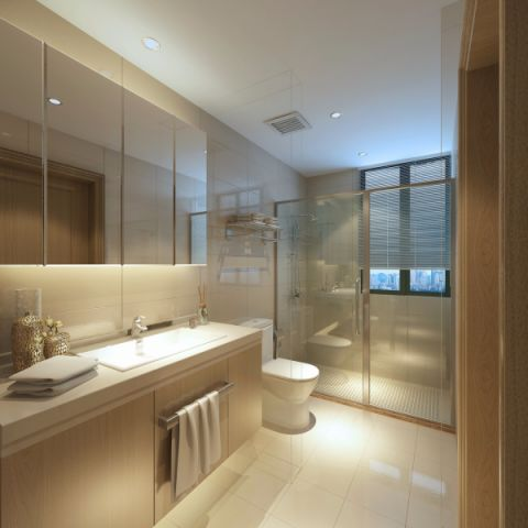 卫生间隐形门美式风格装修效果图