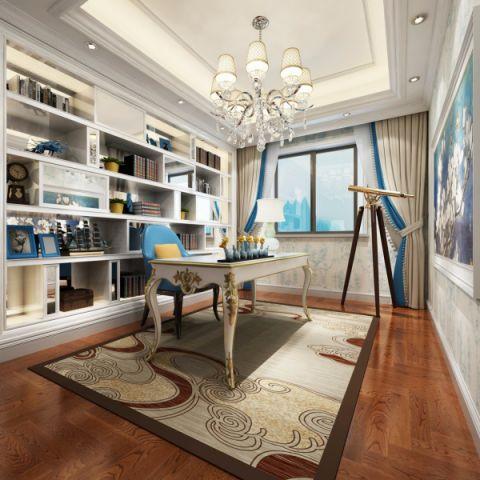 书房窗台欧式风格装饰图片