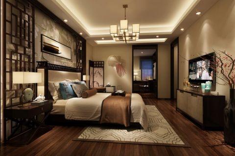 卧室吊顶中式风格装潢设计图片