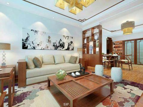 客厅细节中式风格效果图