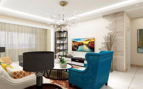 保利香槟国际140平米简约风格三居室装修效果图