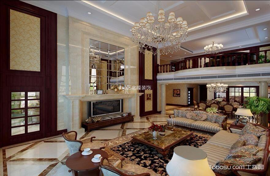 御景湾320²新中式风格6居室装修效果图