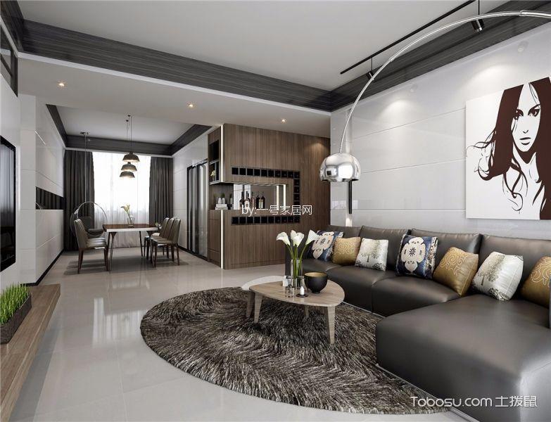 正商城112平三居室现代简约风格装修效果图