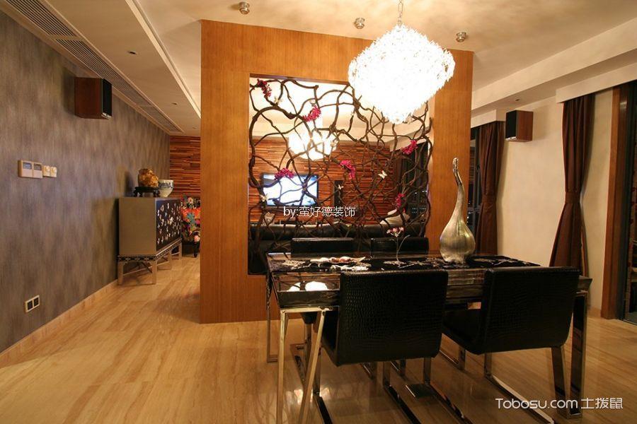 餐厅 隔断_和庭雅苑140m²现代风格三居室装修效果图