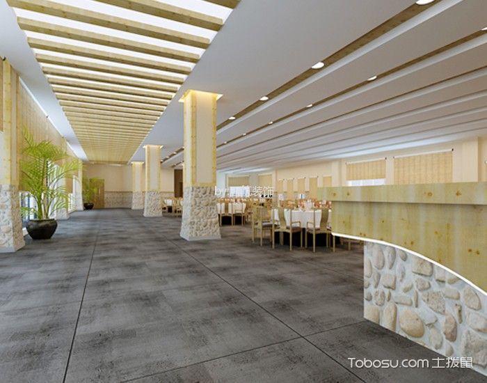 西庄温泉度假村酒店餐厅地板灰色装修图片