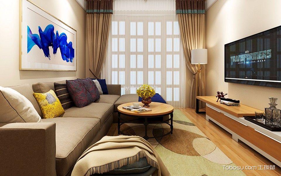 大亚湾南边灶村50平现代风格一居室装修效果图