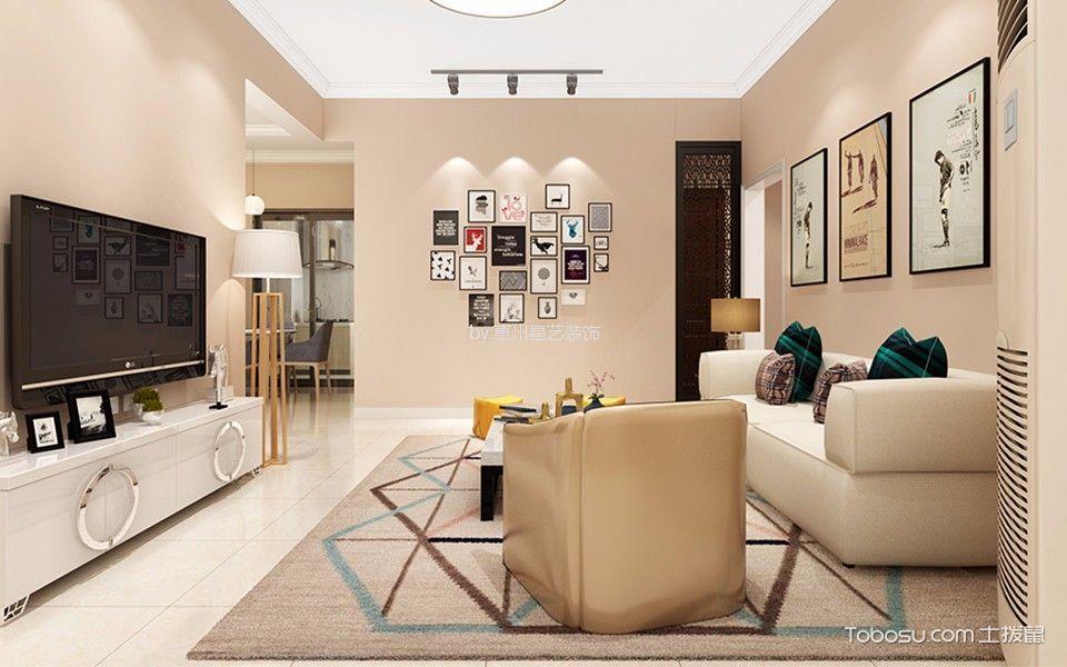 大亚湾南边灶村90平现代风格两居室装修效果图