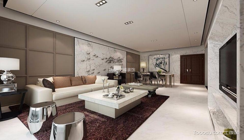 意林小镇120平现代简约风格三居室装修效果图