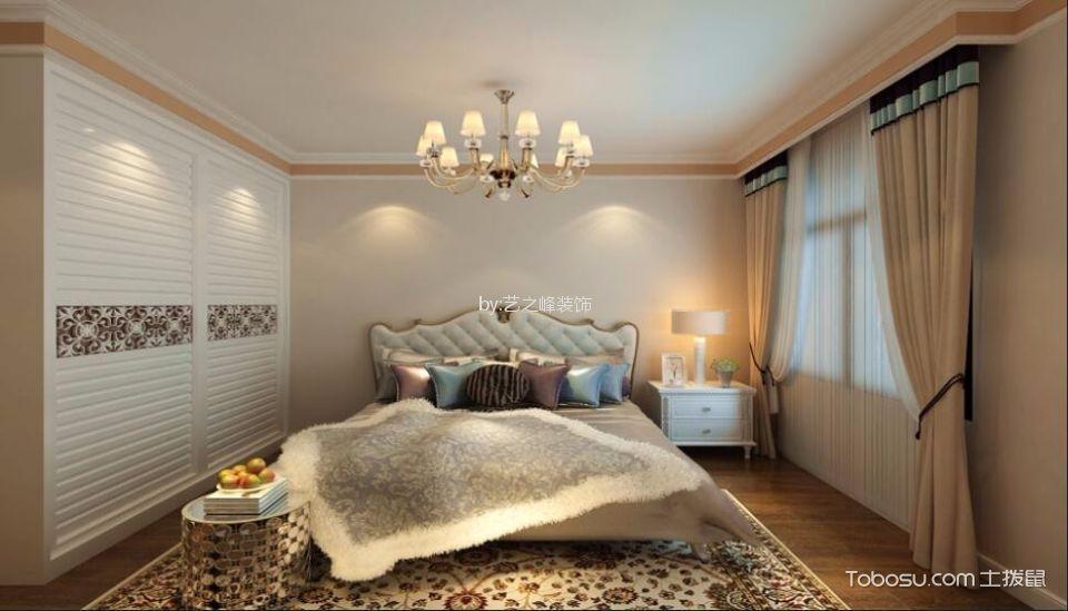 卧室白色简欧风格装潢设计图片