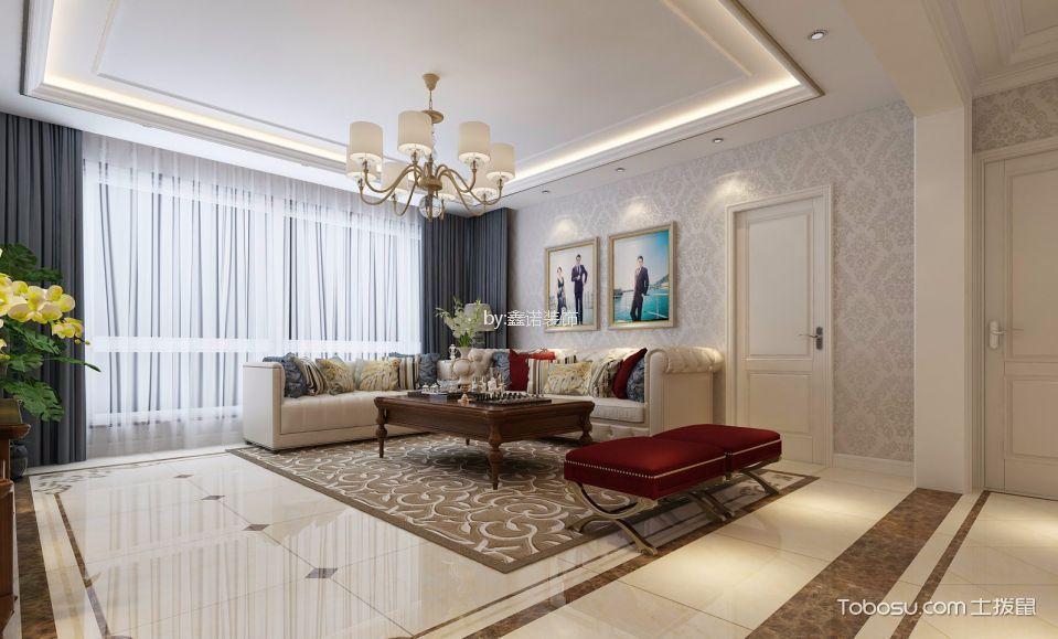 中华名城160平简欧风格三居室装修设计效果图