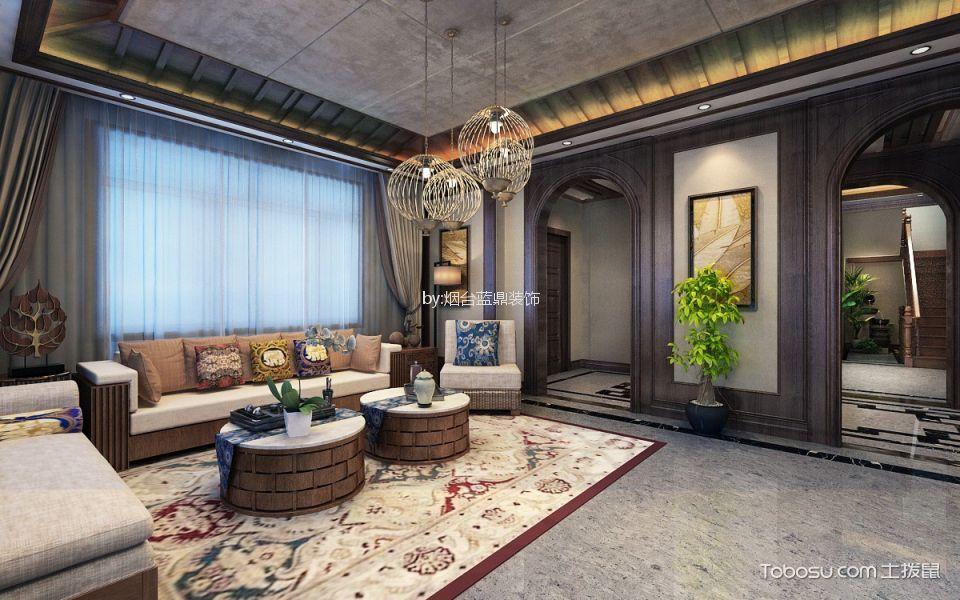 黄海花园东南亚风格别墅装修效果图