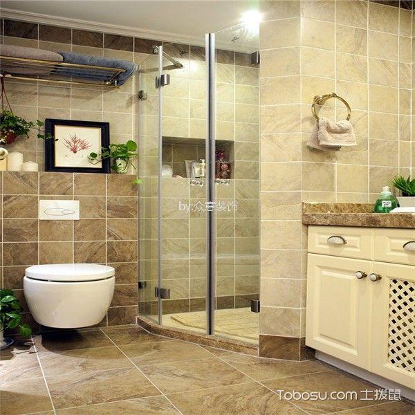 卫生间 洗漱台_美式风格144平米四室两厅室内装修效果图