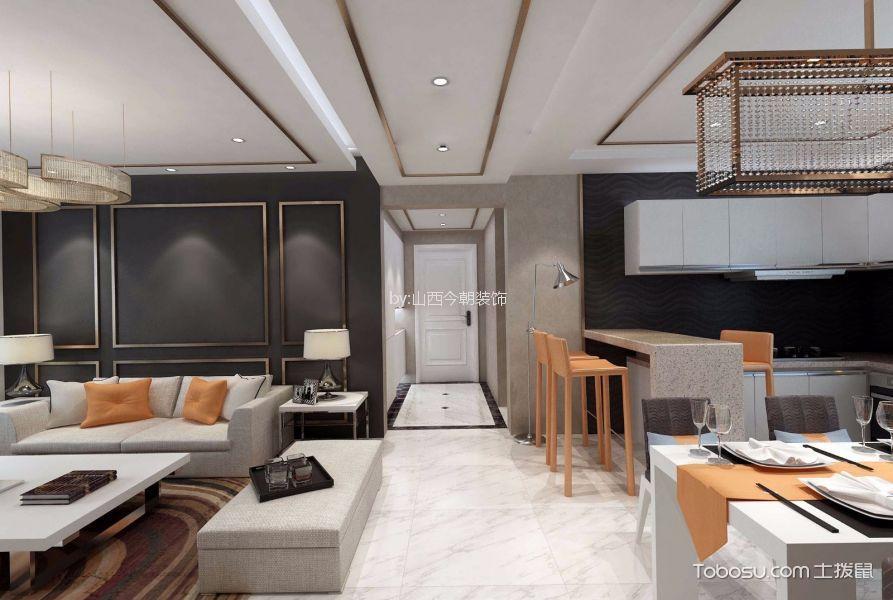 客厅 走廊_美林湾140平米现代简约风格大户型装修效果图