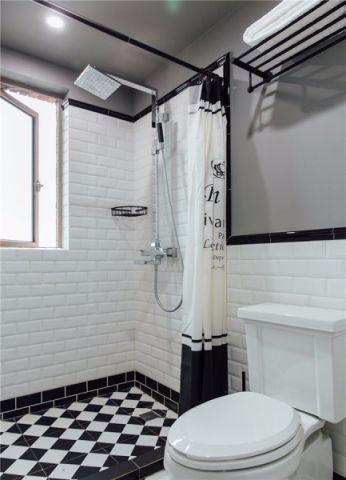 卫生间隔断混搭风格装饰效果图