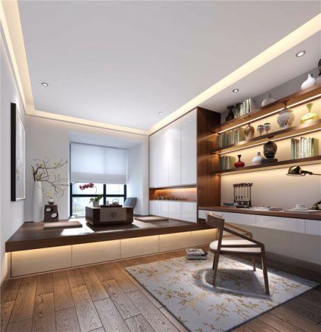 书房榻榻米现代简约风格装修设计图片