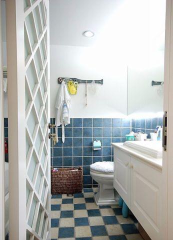 卫生间背景墙地中海风格装修效果图