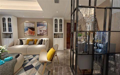 客厅门厅混搭风格装饰效果图