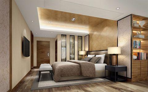 卧室黄色吊顶混搭风格装潢图片