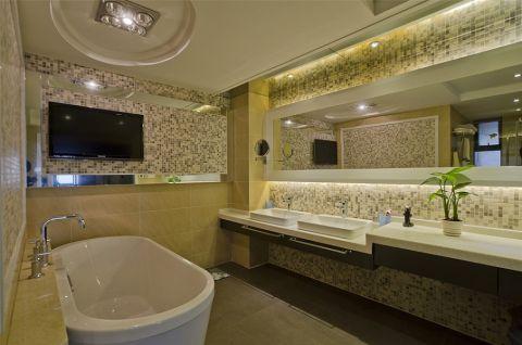 卫生间细节中式风格效果图