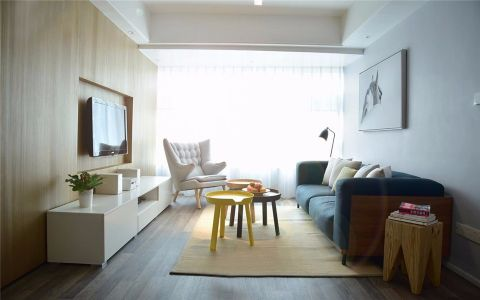 开来都市丰景135平现代三居室装修效果图