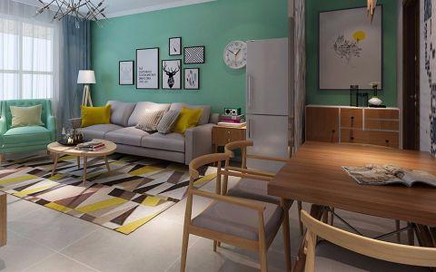 现代简约风格82平米三室两厅新房装修效果图