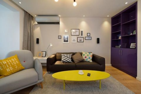 客厅茶几北欧风格装潢效果图