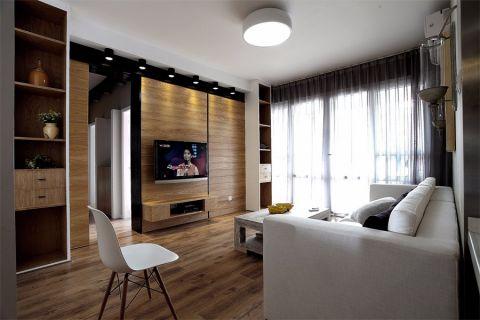 爱涛翠湖花园144平北欧风格三居室装修效果图