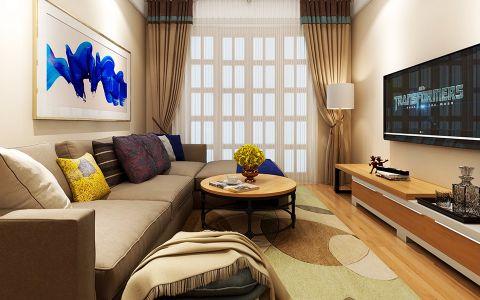 现代风格50平米一居室室内装修效果图