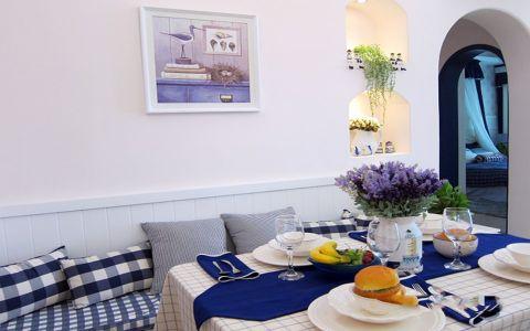 餐厅餐桌地中海风格装饰图片