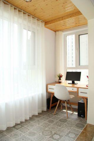 书房飘窗现代简约风格装饰设计图片