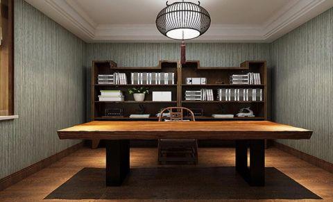 书房书桌东南亚风格装饰设计图片