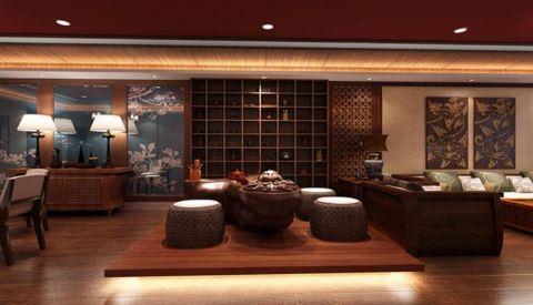 客厅地板砖东南亚风格装潢效果图