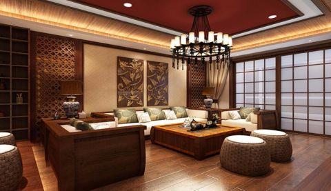 和润香堤120平东南亚风格三居室装修效果图