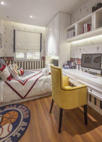 儿童房榻榻米新古典风格效果图
