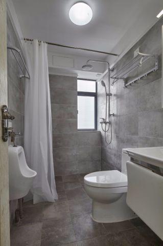 卫生间灰色细节美式风格效果图