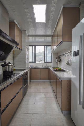 厨房黄色细节美式风格装修效果图