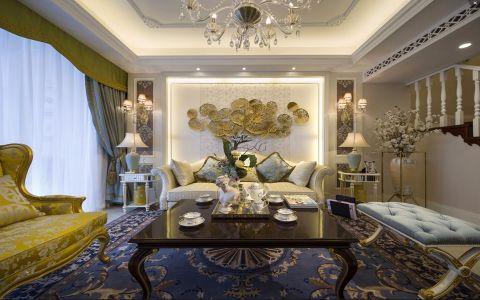 华润国际116平法式风格三居室装修效果图
