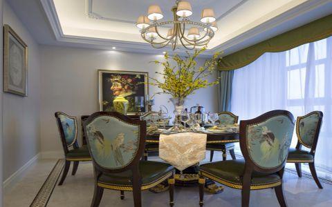 餐厅窗帘法式风格装潢设计图片