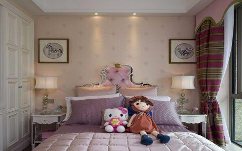 儿童房推拉门法式风格装修效果图