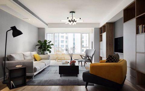 幸福时代90平简约风格二居室装修效果图