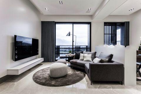 玫瑰东方111平现代风格三居室装修效果图