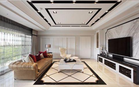 雨润城133平简欧风格三居室装修效果图