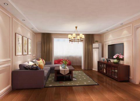 望京西园126平米简欧风格三居室装修效果图