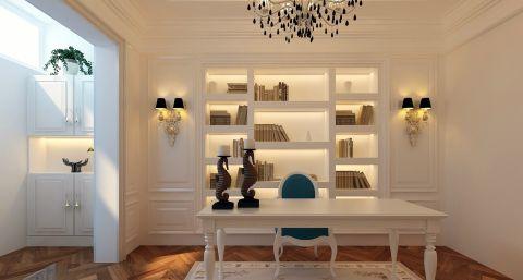 书房博古架新古典风格装潢设计图片