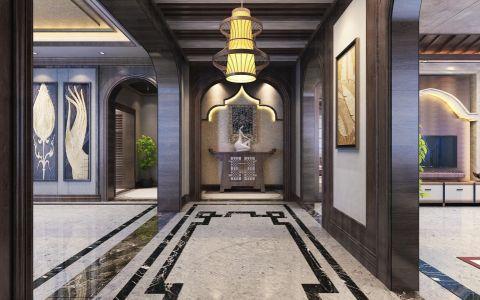 客厅走廊东南亚风格效果图