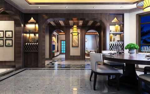客厅橱柜东南亚风格装修效果图