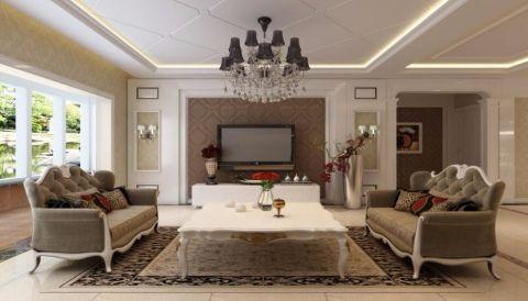 滨河阳光130平米简欧风格四居室装修效果图