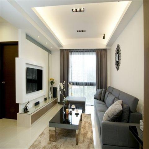 120现代简约风格三居室装修效果图