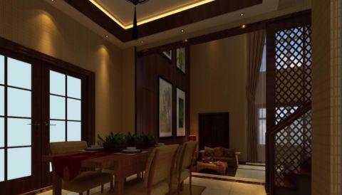餐厅吊顶东南亚风格装饰设计图片