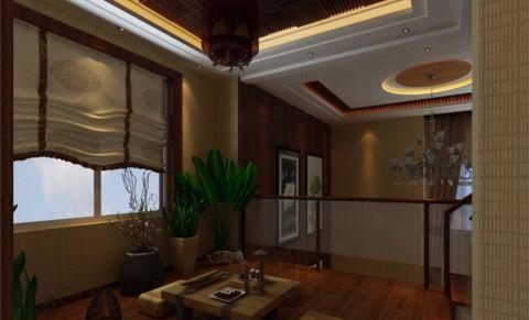 舒格兰小区180平米东南亚四居室装修效果图